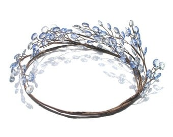 Bridesmaid Head Crown Set 3 to 8, Hair Accessories, Circlet, Head Wreath, Halo Headpiece, Country Wedding, Bridal Head Crown, Forest Crown