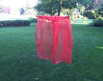 Vintage Red Sheer Half Apron