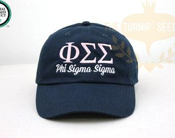 Phi Sigma Sigma Sorority Baseball Cap - Custom Color Hat and Embroidery.