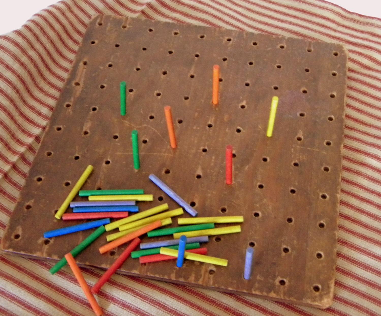 Vintage Milton Bradley Peg Board Game 474