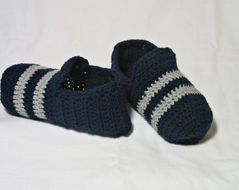 Crochet Mens Slippers, Mens House Slippers, Teen Boy Slippers, Gift for Dad, Gift for Men, Gift for Him, Fathers Day