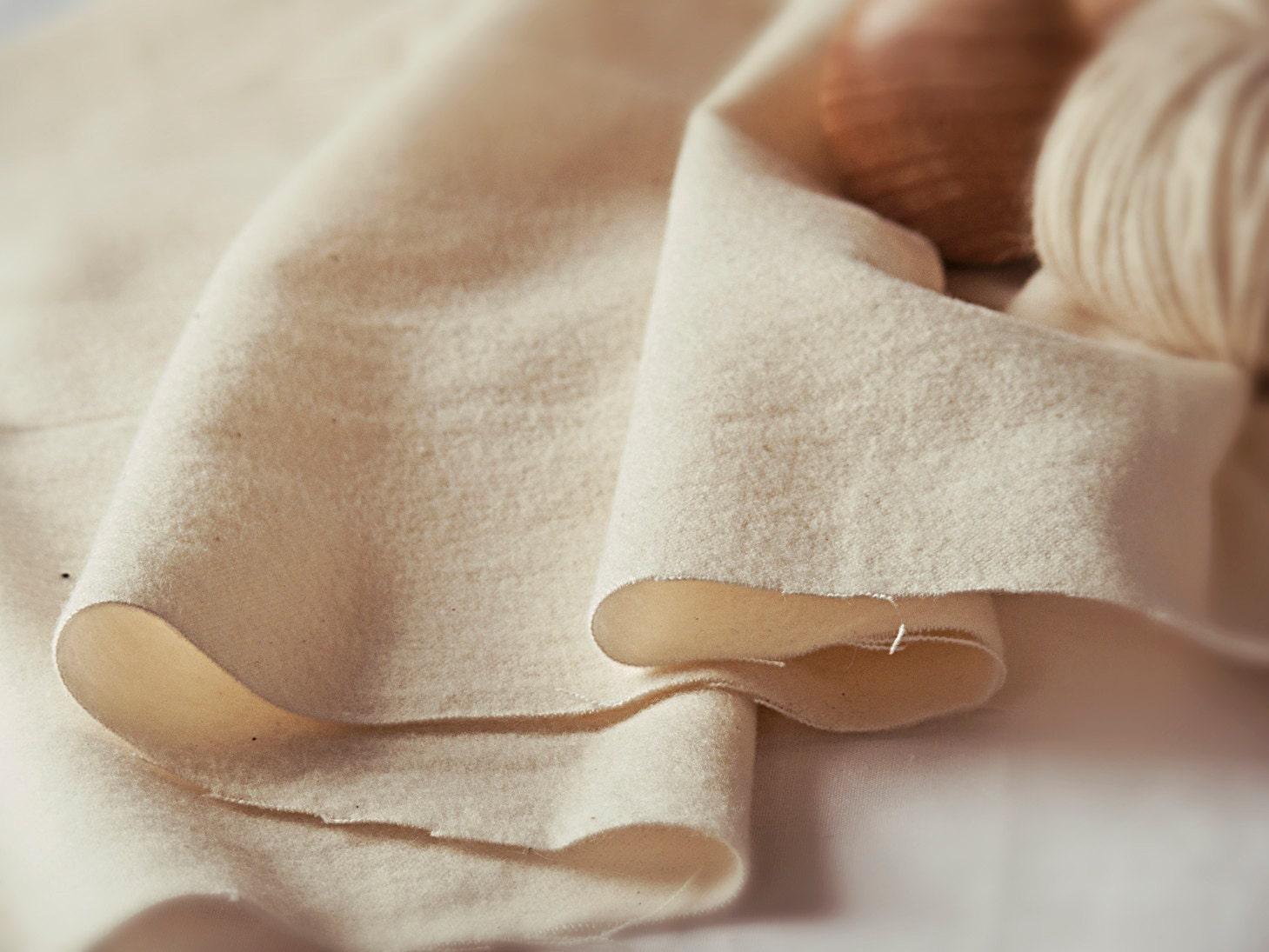 Organic Cotton Flannel Unbleached Cotton Flannel