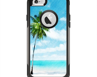 The Paradise Beach Palm Tree Apple iPhone 6 Otterbox Commuter Case Skin Set