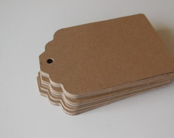 50 kraft tags, for gifts, wedding favors, wish trees, wedding, scrapbooking, card making, crafting - ready to ship