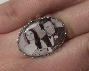 Elvis and Pricilla Wedding Day Adjustable Ring.