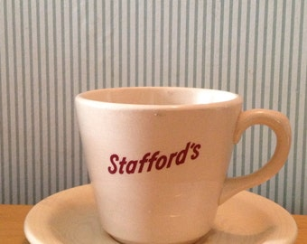 Vintage Stafford's Hotel Ware Cup and Saucer