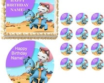 Sheriff Callie's Wild West Riding SHERIFF CALLIE Edible Cake Topper Frosting Sheet All Sizes