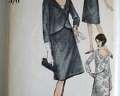 1960s Dress Pattern Vogue 6345 Bust 34 Suit & Blouse Womens Vintage Sewing Patterns
