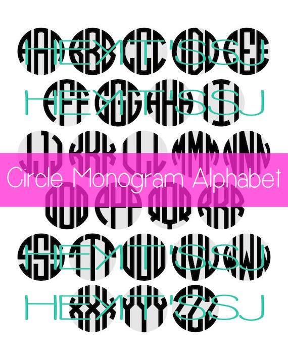 Circle Monogram Alphabet in