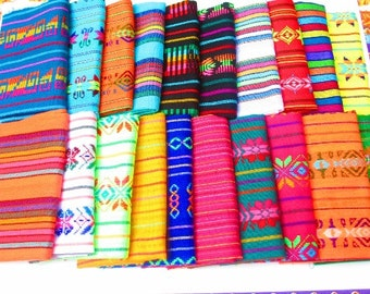 Mexican Fabric, 20 half yards, Bohemian Fabric, Striped fabric, Ethnic fabric, Fabric By half Yard, Vintage Fabric, Fabric Wedding,
