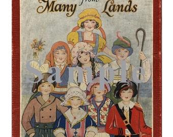 Paper Doll _ Vintage Little Americans from Many Lands Paper Dolls _ Folk Costume Dolls PDF Digital Download Paper Art Dolls + BONUS Booklets