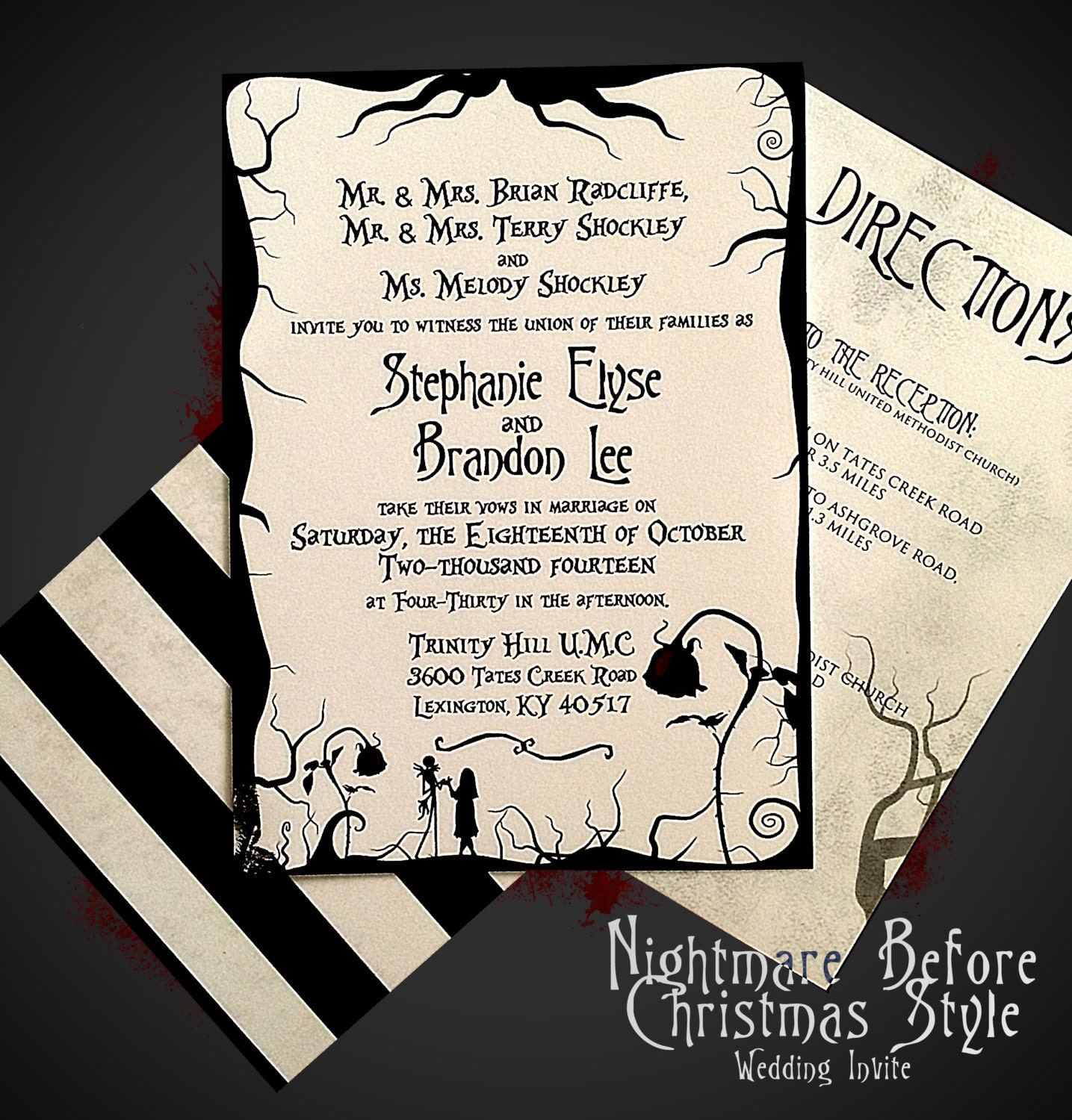 Tim Burton Inspired Wedding Invitations 28 Images Spooktacular