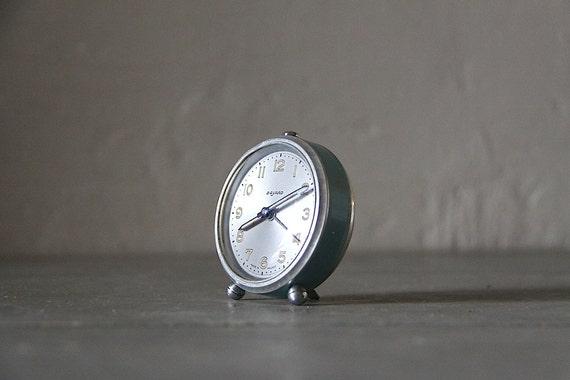 Cute Alarm Clock French Bayard Duck Egg Blue