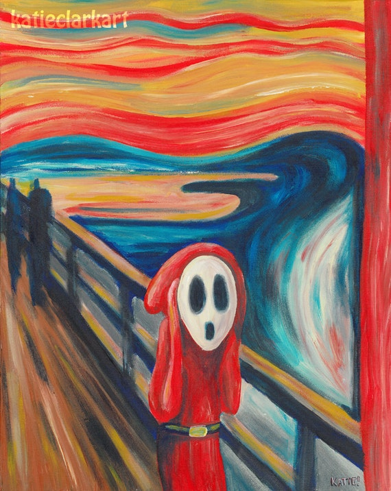The Scream Print Shy Guy Painting
