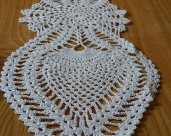 Free Anchor Crochet Pattern Doilies Table Runner : Free Rounded Crochet Pattern 22 300x286 Free Crochet Doily ...