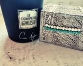 Turquoise necklace minimalist stone set