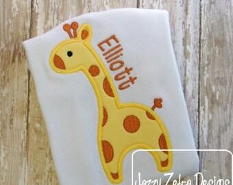 Giraffe with Spots Appliqué embroidery Design - giraffe Appliqué Design - zoo Appliqué Design - safari Applique Design - baby Applique