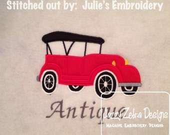 Antique Car Applique embroidery Design - car Applique Design - antique car Applique Design