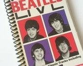 "VHS Journal - ""The Beatles LIVE"" Handmade Blank Spiral Bound Journal"