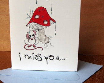 I Miss You Greeting Card- Original Design