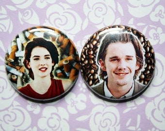 Lelaina and Troy- One Inch Pinback Button Set