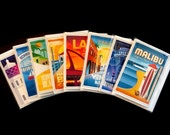 Los Angeles Coastline Series (Southbay and Santa Monica Bay) Cards - Pack of 8
