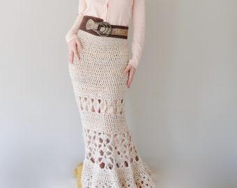 PATTERN For Maxi Skirt / Crochet Long Skirt / Crochet Pattern PDF - Instant Download / Detailed Instructions In English For Crochet Skirt