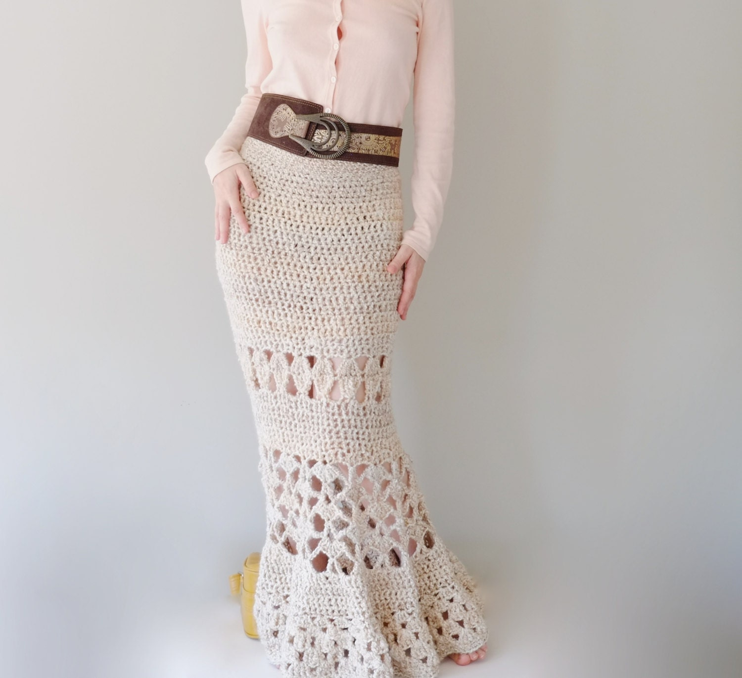 Crochet Skirt Pattern : PATTERN For Maxi Skirt / Crochet Long Skirt / by Accessodium