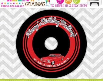 CDLABEL-682: DIY - 1960's Chevy Corvair Cd Label
