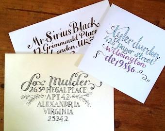 Hand written/hand addressed envelopes