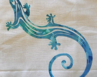 Easy Lizard Quilt Applique Pattern Design