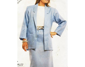 McCall's Sewing Pattern 2966 Easy Stitch 'n Save Misses Jacket & Skirt Used