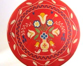 Vintage Red Tin - 1950s - Dutch Motif -Jean Marie Home Made Candies - Chicago