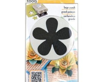 "EK SUCCESS Slim Paper Punch Large ~ Retro Flower Approx. 2"", E5430106  ~ New in Box"