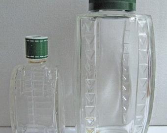 3 Vintage empty perfume bottles Carven collector