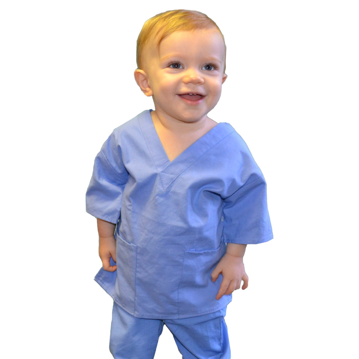 Ceil Blue Toddler Kids Scrubs For Little Doctors And Nurses