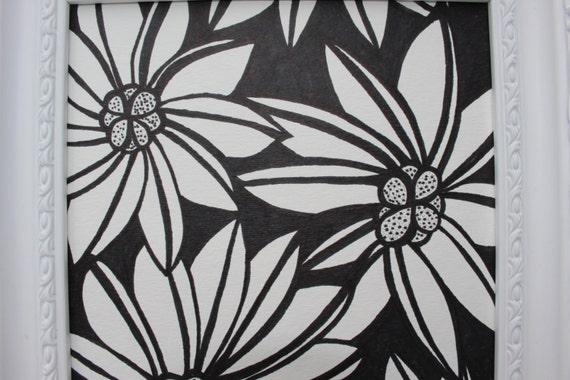 Multiple Flower Drawings Original Flowers Drawing in a