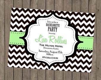 Printable Bachelorette Invitation - Lisa Mint