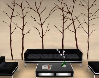 Big Trees Wall Decal // sticker // art  // room // decor // branch // flower // blossom //  JA04