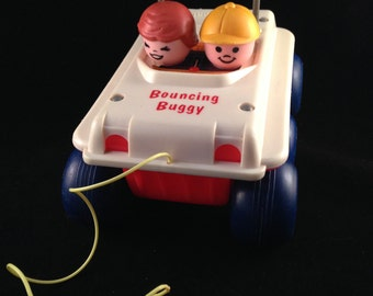 Vintage Fisher Price Bouncing Buggy 1973