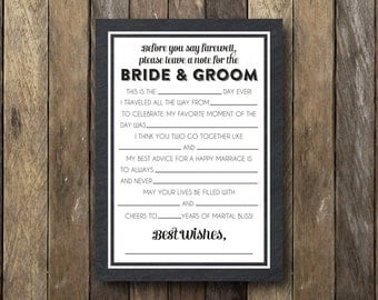 Wedding Guest Advice Card - Printable Guest Cards - Bride and Groom Advice - Wedding Advice Cards - Bride and Groom Advice Card