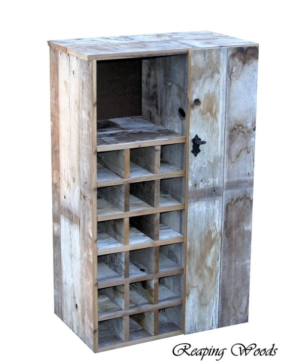 Items Similar To Large Reclaimed Rustic Barn Wood Wine