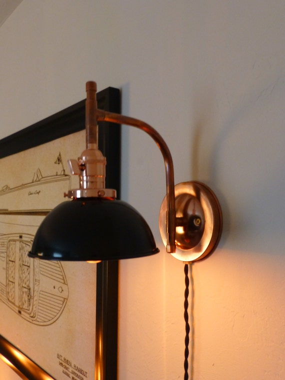 Handmade Copper Wall Sconces : Solid Copper Handmade Wall Sconce Low Arch by VintageCopperWorks