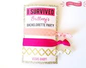 Custom Bachelorette Party Hair Tie Labels PRINTABLE Bride to Be Bachelorette Party Favor Las Vegas Bachelorette Pink and Gold PRINTABLE