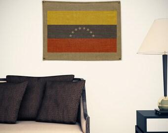 Venezuela Burlap Flag (w/ Free Shipping!)