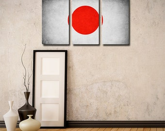 Japan Flag Triptych (w/ Free Shipping!)