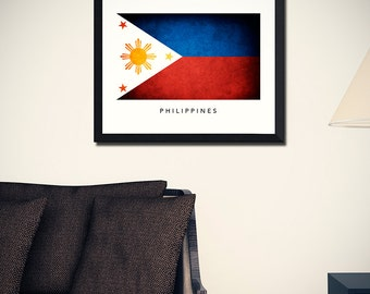 Philippines Flag Art Print (w/ Free Shipping!)