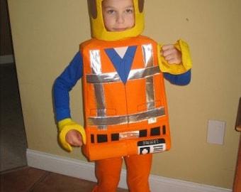 Lego Emmet inspired costume .