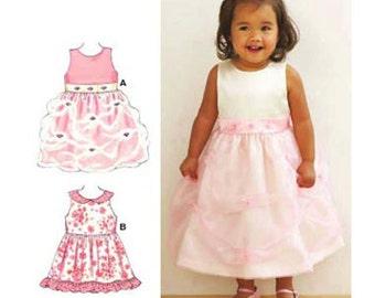 Sewing Pattern -  Toddler Pattern Sleeveless Dress Pattern- Kwik Sew #K3500