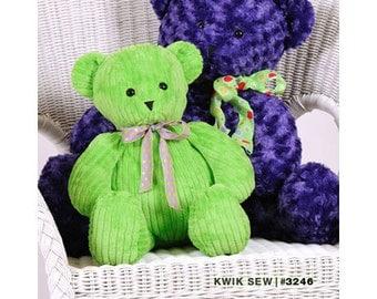 Sewing Pattern - Toy Pattern, Teddy Bear Pattern, Bear Toy Pattern, Large Teddy Bear Pattern -  #K3246